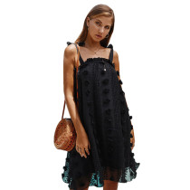 Black Loose Style Slip Dress TQK310304-2