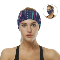 Multicolor Digital Print Headband/ Scarf H00276-9