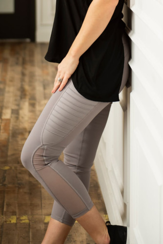 Purple Moto Pocketed Leggings LC26083-8
