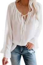 White Classic Tale Blouse LC252394-1
