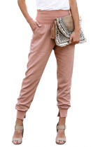 Pink Pocketed Cotton Joggers LC77345-10