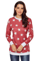 Red All Over Star Sweatshirt