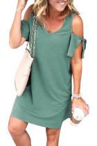 Green Cold Shoulder Shift Dress LC221095-9