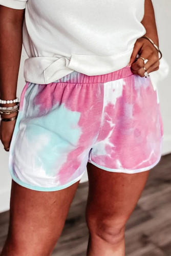 Pink Tie-dye Terry Shorts LC77374-10