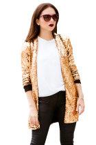 Gold Sequin Blazer LC85466-12