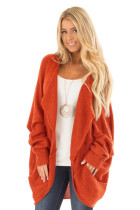 Brick Dolman Sleeve Knit Cardigan with Pocket