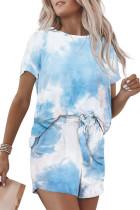 Sky Blue Tie Dye Lounge Set LC62093-104