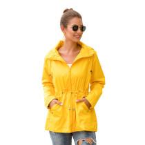 Yellow Waterproof Slim Fit Outdoor Coat TQK280013-7