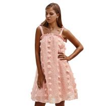 Pink Loose Style Slip Dress TQK310304-10