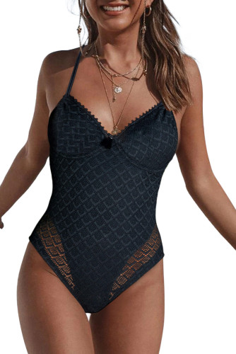 Adjustable Halter V Neck Swimsuit LC44109-2