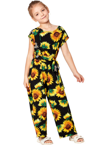 Black Sunflower Jumpsuit TZ64007-2