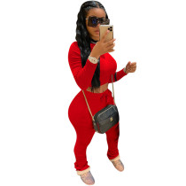Red Long Sleeve Sports Set TQK710068-3
