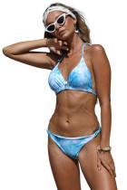 Sky Blue Sunny Day Halter Bikini LC412004-4
