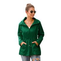 Dark Green Waterproof Slim Fit Outdoor Coat TQK280013-36