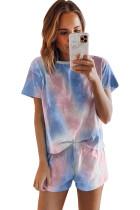 Tie Dye Print Pajamas Set LC45021-5