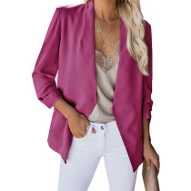 Rosy 3/4 Sleeve Lightweight Blazer With Pockets TQK260015-6 (This items size is smaller, pls select