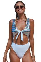 Multicolor Sequin Cutout Sparkling Maillot Swimsuit LC411770-22