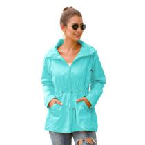 Aquamarine Waterproof Slim Fit Outdoor Coat TQK280013-45