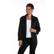 Black 3/4 Sleeve Fashion Lady Suit TQD260025-2