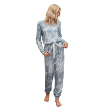 Gray Knit Blend Tie Dye Loungewear Jumpsuit TQK550201-11