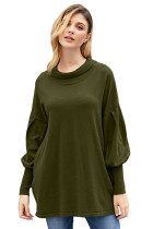 Army Green Slope Side Snuggles Tunic Sweater