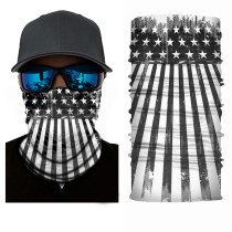 The USA Flag Print Multifunction Outdoor Cycling Mask in Black White TQZ910203-7