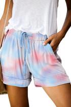 Multicolor Print Drawstring Casual Elastic Waist Pocketed Shorts LC77312-22