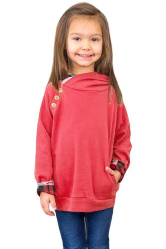 Red Toddlers Double Hooded Sweatshirt TZ25110-3