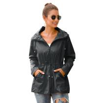 Gray Waterproof Slim Fit Outdoor Coat TQK280013-11