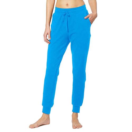 Blue Drawstring Yoga Joggers TQK520022-5
