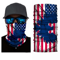 The USA Flag Print Multifunction Outdoor Cycling Mask in Blue TQZ910203-8