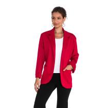 Wine 3/4 Sleeve Fashion Lady Suit TQD260025-103