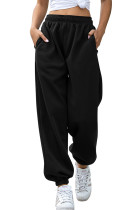 Black Casual Loose High Waist Jogger Sweatpants LC263002-2