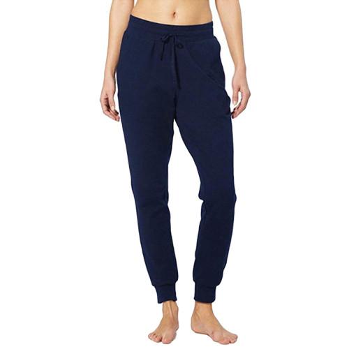 Navy Blue Drawstring Yoga Joggers TQK520022-34