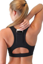 Black Back Pocket Sport Bra LC262001-2