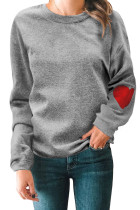 Heart on My Sleeve Cotton Blend Sweatshirt