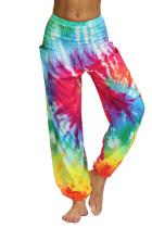 Multicolor Boho Tie-dye Casual Loose Hippy Harem Pants LC263058-22