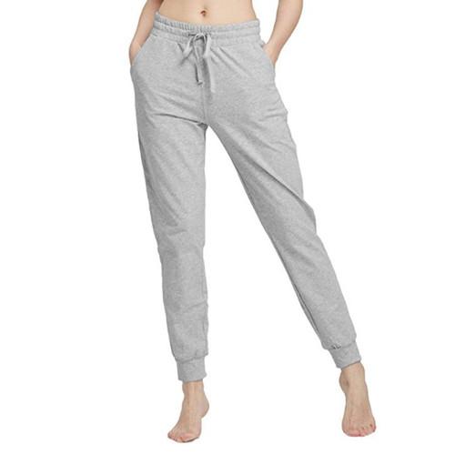Gray Drawstring Yoga Joggers TQK520022-11