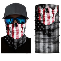 The USA Flag Print Multifunction Outdoor Cycling Mask in Black TQZ910203-10