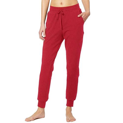 Red Drawstring Yoga Joggers TQK520022-3