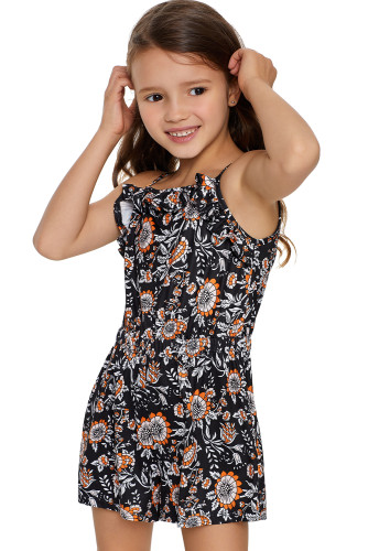 Black Girls's Sleeveless Romper TZ64009-2