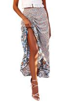 White Floral Motif Talking Pretty Maxi Skirt LC65253-1