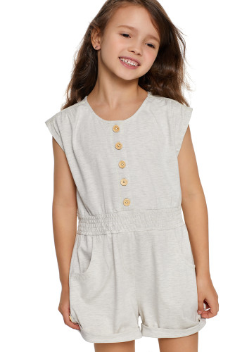 White Little Girls Cassie Romper TZ64010-1