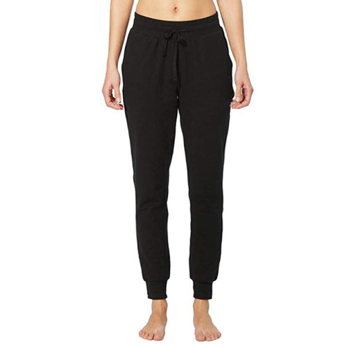 Black Drawstring Yoga Joggers TQK520022-2
