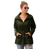 Army Green Waterproof Slim Fit Outdoor Coat TQK280013-27