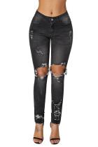 Black Destroyed Skinny Jeans