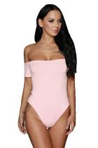 Pink Off Shoulder Bodysuit