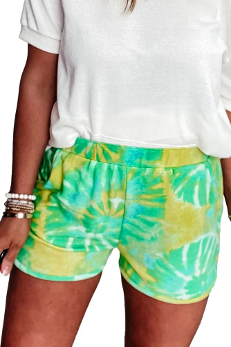 Green Tie-dye Terry Shorts LC77374-9