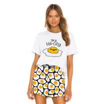 Lovely Print Short Sleeve Home Wear Pajama Set TQK710038-8