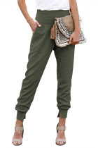 Green Pocketed Cotton Joggers LC77345-9